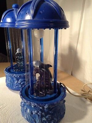 Set of Vintage 70's Dolphin Mineral Oil Rain Lamp