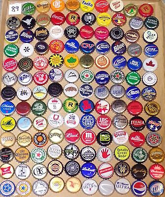 129 different beer/soda bottle caps from 11 different countries (#89)