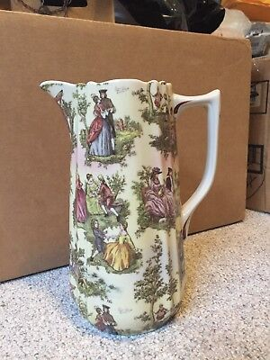 "Antique Pitcher with Three Women or Goddesses on The Front - 8 "" tall"