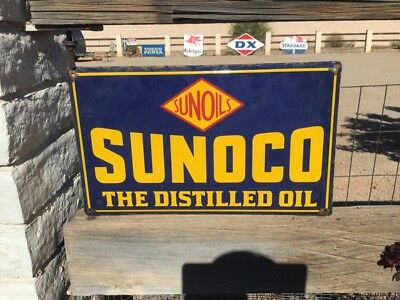 Sunoco Oil & Gas Porcelain Advertising Sign