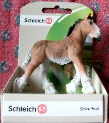Schleich Shire Foal Toy Figurine NEW