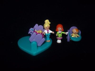 EUC 100% Complete Vintage Polly Pocket Baby Friends 1996