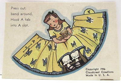 Mint Uncirculated Cracker Yellow Paper Doll~C Carey Cloud-Rare Find!!