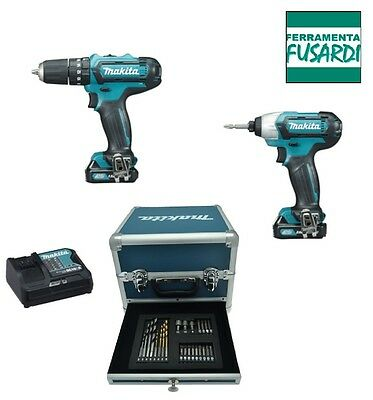 Ff: Super Promo ** Kit Makita Cl202Sax2 : Hp331D Td110D Con 2 Batterie Bl1020B
