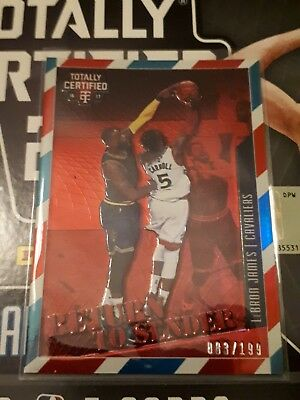 16-17 Panini Totally Certified LeBron James Cavaliers Red Insert #/199