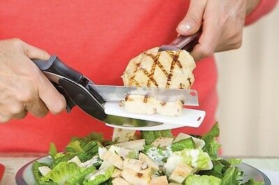 Generic Clever/Smart Cutter 2in1 Knife - Cutting Board, Kitchen Scissors/Slicer