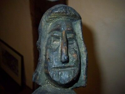 very old sculpture/carving in wood - Folk Art- Possibly offering to gods?