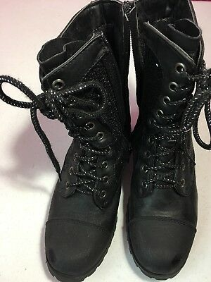 Girls Size 3 Black Dance Boots By Gia Mia