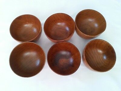 EKCO U Type  Small Wooden Snack Soup Salad Bowls(6)