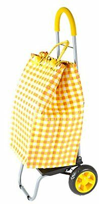 Trolley Dolly Basket Weave Tote, Yellow