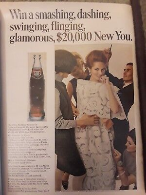 1966 Tab soda sweepstakes ad to win $20,000 New You campaign