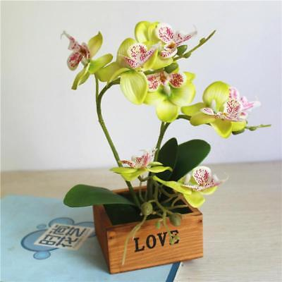 Artificial Flower Orchid Potted Plant Phalaenopsis Wedding Home Garden Decor Kit