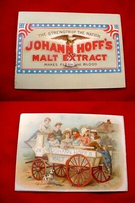 1899 Advertising Booklet Johann Hoff's Malt Extract  Beer Brewery Trade Card