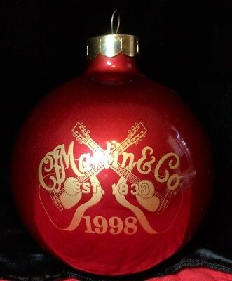 Martin Guitar Annual Collectible Glass Christmas Ornament Series, 1998