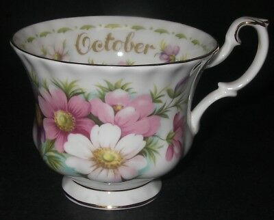 Replacement CUP Royal Albert Bone China England Flower of Month October Cosmo