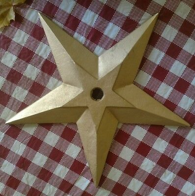 """Large Cast Iron Architectural Masonry Building Wall Anchor Star 16"""" Diameter"""