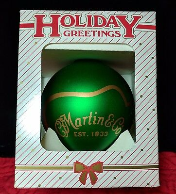 Martin Guitar Annual Collectible Glass Christmas Ornament Series, 1999