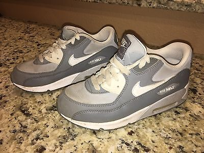 Nike Air Max 90 Ltr Leather Wolf Grey/White GS Sz 3Y 724822 003 Women's Sz 4.5