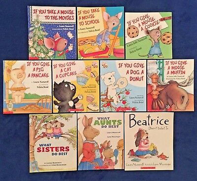 10 Lot Children's Picture Books Laura Numeroff: If You Give a Mouse a Cookie &
