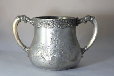 Rare Old Original Antique Quadruple Silver Company Plate Creamer Sugar Bowel