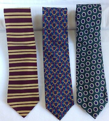 Lot of 3 Men's Silk Ties Vintage Brooks Brothers Makers, H. Stockton Atlanta  L