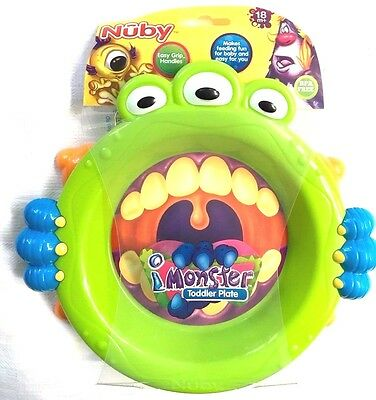 NUBY  iMONSTER Baby TODDLER  PLATE  18 months+ Boys/Girls BPA