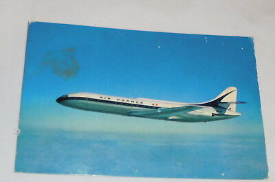 vintage Caravelle air France airlines Airplane postcard