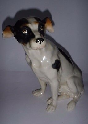 Handsome Vintage Whippet Dog Figurine with Beautiful Details Porcelain Ceramic