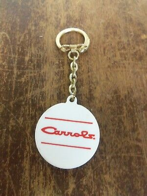 Vintage Carrols Hamburgers Restaurant Key Chain Ring Advertising