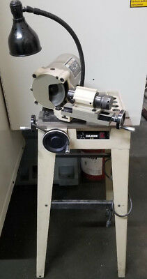 DAREX E-90 END MILL SHARPENER w/ 5C AIR SPINDLE & COLLETS - 115V, SINGLE PHASE