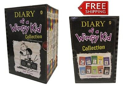 Diary Of A Wimpy Kid 10 Book Box Set Collection Jeff Kinney Slipcase Paperback