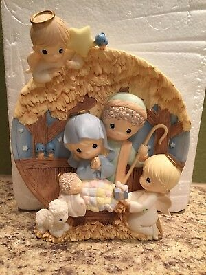 "Precious Moments Limited Edition Nativity Plate ""Heaven's Gift Of Love"""