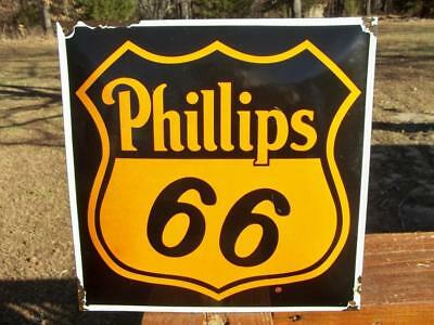 Phillips 66 Gas Porcelain Advertising Sign Oil & Gas Sign Gas Station Pump Plate