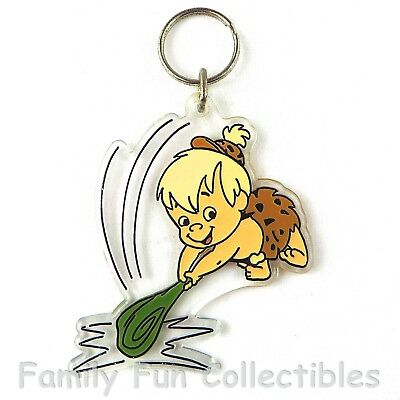 THE FLINTSTONES~1990 Nancy Sales~Key Chain Ring~Bamm~NOT FOR RETAIL SALE~NEW NOS