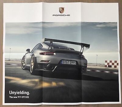 Porsche The new 911 GT2 RS Unyielding poster folded 22x25 LA Auto Show Exclusive