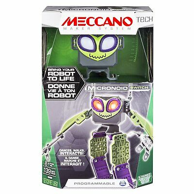 MECCANO - MICRONOID - Green SWITCH, Programmable Interactive Robot Building Kit