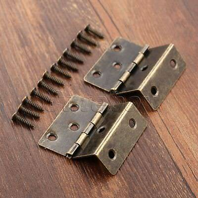 Furniture Door Hinge Wooden Box Dollhouse Cabinet Drawer Folding Hinge Hardware