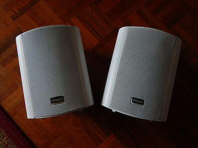 Wintal White 5AW Active outdoor/indoor speakers with lead, wire&brackets - USED