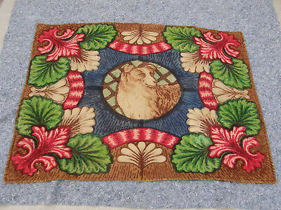 Late 1800's Stroock Horsehair Auto Buggy Car Blanket With Dog