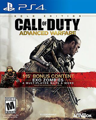 Call of Duty Advanced Warfare Gold Edition PlayStation 4 PS4 COD Video Game War
