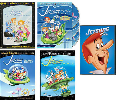 The Jetsons Complete Series TV Season 1-3 Film DVD Set Collection Lot Cartoon R1