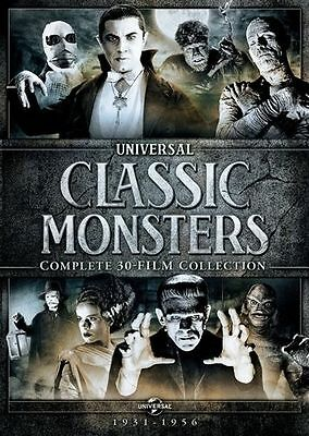 Universal Classic Monsters DVD Set Complete Film Collection Dracula Frankenstein
