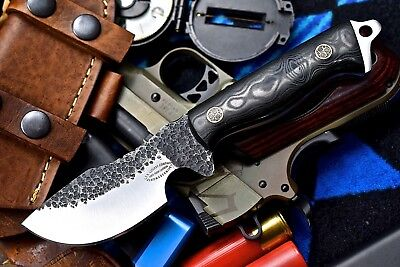 CFK USA Custom Handmade Hammered 1095 High Carbon Skinner Hunter Bushcraft Knife