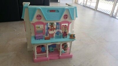 Fisher Price Loving Family Dolls House And Accessories