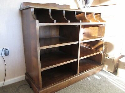 Solid oak display cabinet / bookcase