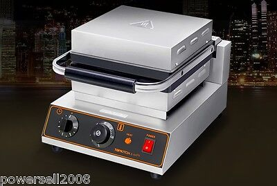 1600W Lattice Thicken Commercial Non Stick Plates Waffle Maker Stainless Steel