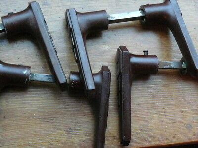 4 Pairs Bakelite Door Handles & Shafts ONLY 1937 Art Deco