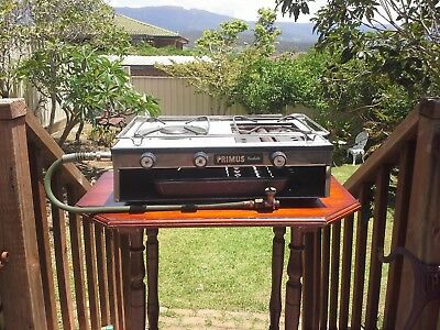 PRIMUS GAS COOKER / GRILL STOVE - ENAMEL - Caravan / Camping - Will post