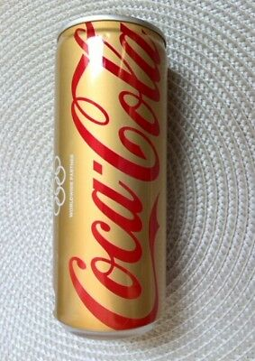 Coca-Cola Olympic Memorial 250ml cans  Gold empty cans