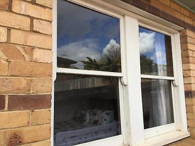 TIMBER WINDOW, With White ROLLER BLIND, 1970mm Width X 1450mm H, Essendon Pickup